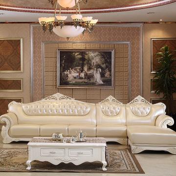 欧式布艺沙发组合 别墅会所豪华布艺批发客厅大堂欧式沙发