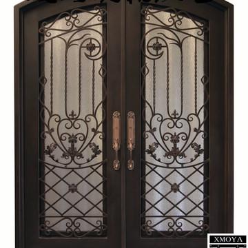 私人定制欧式入户门,高端别墅铁艺门,豪华防盗安全门