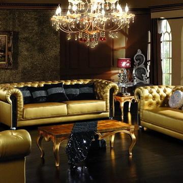 欧式家具新古典ktv沙发组合