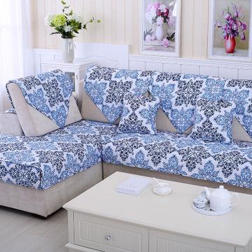 全棉真皮沙发巾罩沙发套定做防滑沙发坐垫夏欧式沙发
