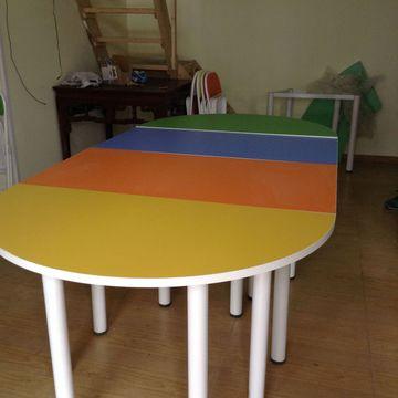六边形异形培训桌绘画桌心理咨询室幼儿园美术