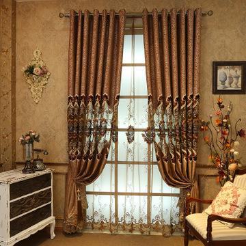 2016新款绣花欧式韩式田园客厅卧室阳台飘窗窗纱帘