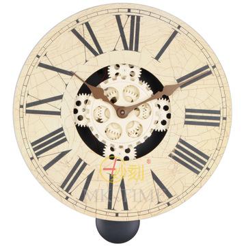 欧式罗马风格钟 木板挂钟