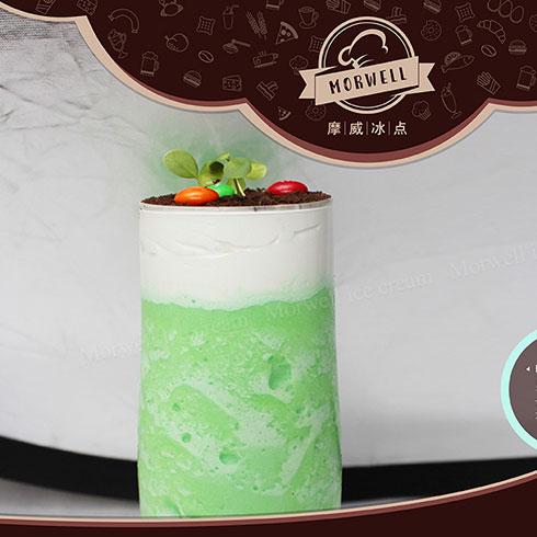 摩威冰点冰淇淋-抹茶慕斯盆栽冰淇淋