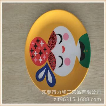 生产供应 美耐皿仿瓷儿童卡通餐盘 环保防摔美耐皿圆盘 可以定制