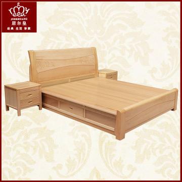 白色卧室欧式实木床