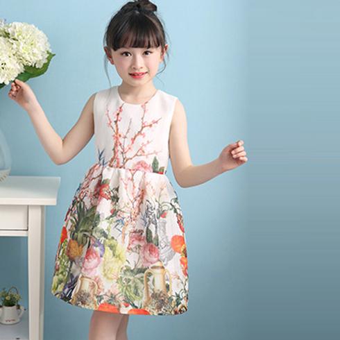 小美孩童装-印花裙