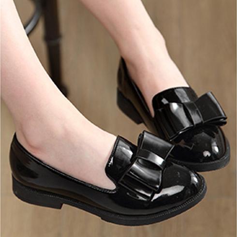 小美孩童装-黑色时装鞋