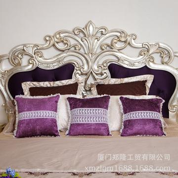 欧式古典蕾丝花纹靠枕 办公室靠垫含芯 家居布艺沙发床头抱枕批发