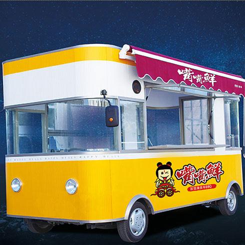 嘴嘴鲜街景餐车-四轮电动餐车