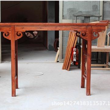 明清仿古实木家具 木雕镂空杨花条案