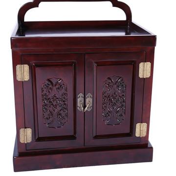 欧式仿红木系列实木环保漆纯手工雕花纯实木床头柜