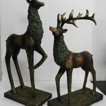 欧式情侣对鹿树脂工艺品创意客厅电视柜装饰品闺蜜结婚礼物