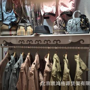 新款服装展示架上墙货架子女装服装店装修木质服装架