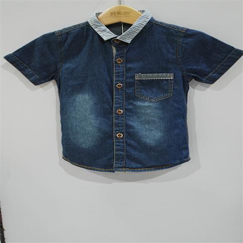 亲子城-牛仔男童衬衫