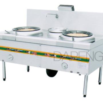 酒店厨房用品厨房设备不锈钢电磁双头单尾小炒炉