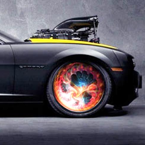 车驰炫百变光影轮-火焰图案