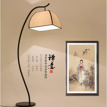厂家直销新中式落地灯客厅书房卧室落地台灯创意钓鱼灯