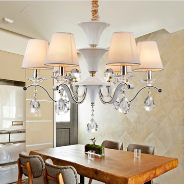 欧式吊灯吸吊两用布艺简约客厅灯新款卧室餐厅简欧吊