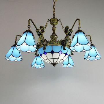 欧式吊灯卧室灯简约 地中海灯客厅蒂凡尼餐厅灯具现代风格灯饰