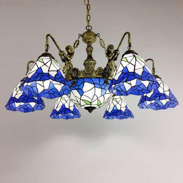厂家直销蒂凡尼欧式吊灯创意卧室灯莲花式餐厅灯灯饰灯具批发