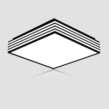 现代简约亚克力led吸顶灯黑白线条创意客厅灯具卧室