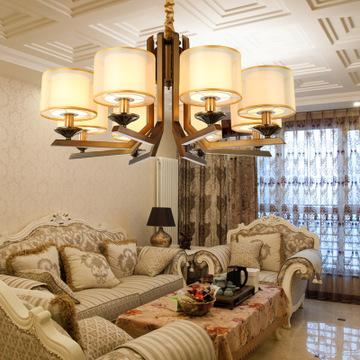 酒店新中式吊灯样板房吊灯 现代铁艺客厅灯吊灯 卧室餐厅吊灯定制