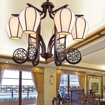 新中式吊灯客厅厨房餐厅玄关复古简约铁艺吊灯铜厂家现货批发