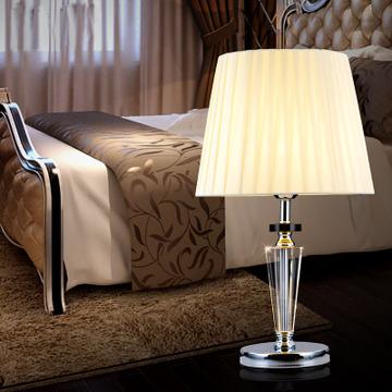 欧式水晶台灯简约创间温馨奢华酒店装饰灯时尚客厅书房卧室床头灯