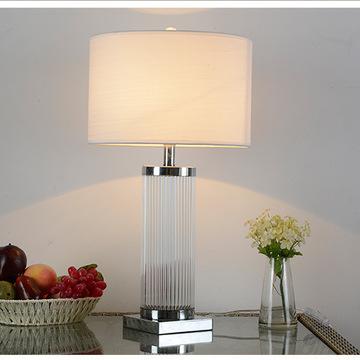 现代简约水晶台灯欧式卧室床头灯创意时尚客厅婚庆