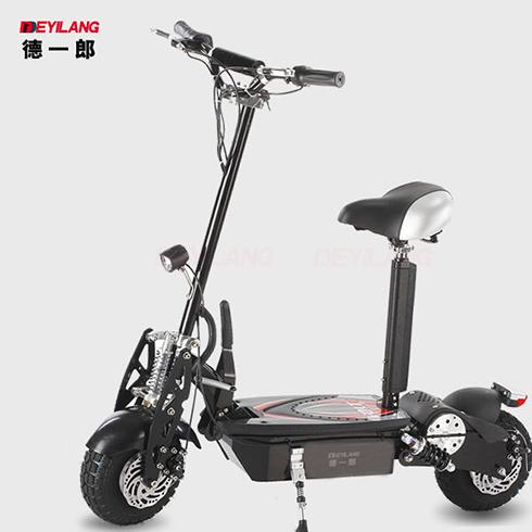 黑色折叠电动滑板车
