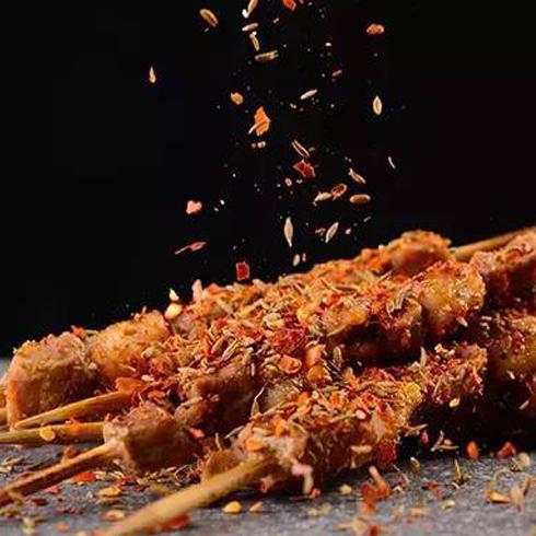 一〇八匠众创烧烤-沙葱羊肉烤串
