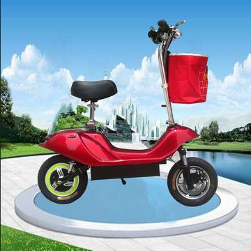 厂家直销 折叠迷你电动车小海豚电动滑板车电瓶车 代步车