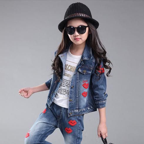 酷芭蒂童装-女童时尚牛仔套装