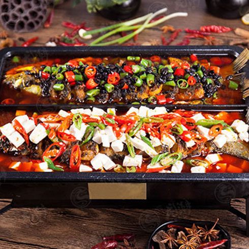 龙潮美式炭火烤鱼-一锅两吃
