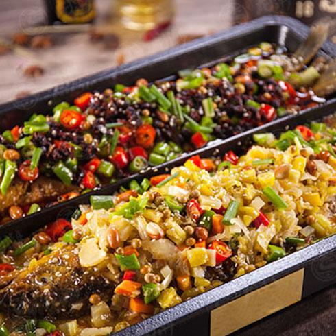 龙潮美式炭火烤鱼-一锅两吃(2)