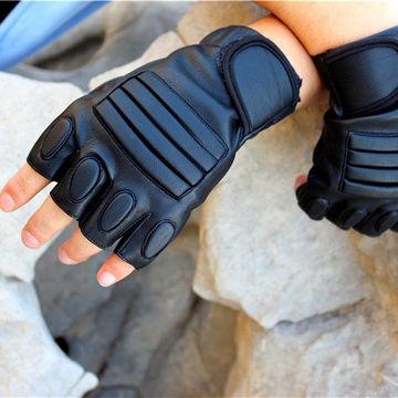 户外运动手套半指男女健身骑行护腕手套攀岩防