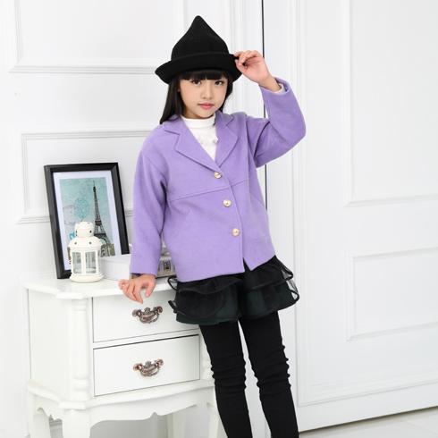 贝蕾尔-紫色薄外套V领春秋款