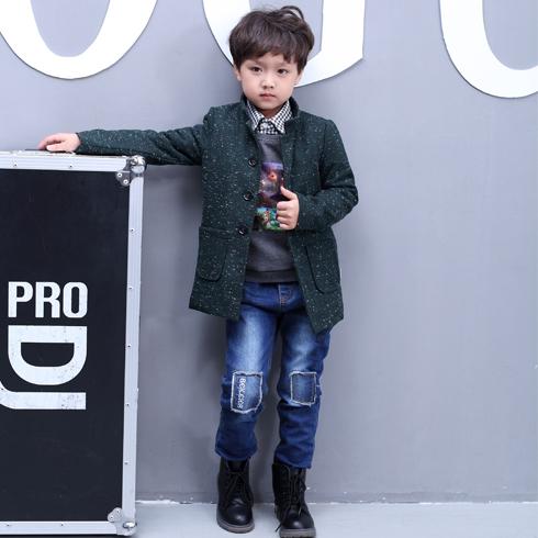 贝蕾尔-中长款儿童男孩韩版衣服