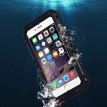 苹果6s金属四防外壳 iphone6防摔手机壳 6plus防水游泳潜水保护套
