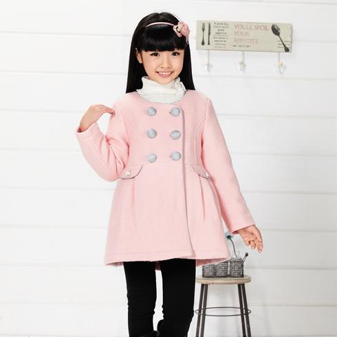 木木雨雨童装-粉嫩可爱中长款冬季外套