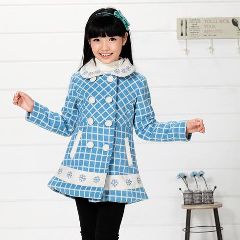 木木雨雨-蓝色格子童装