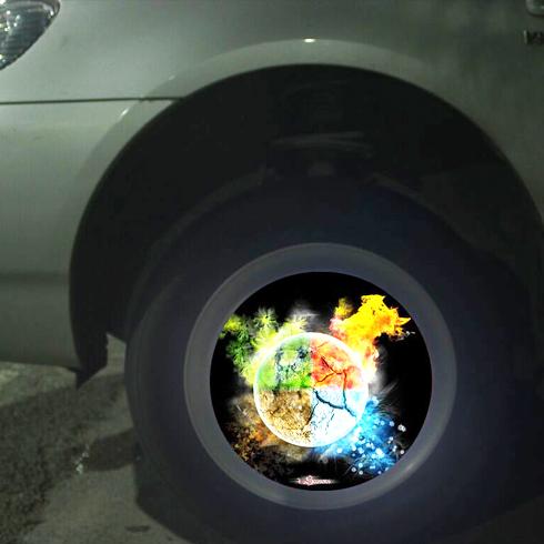 车驰炫百变光影轮——闪电图案