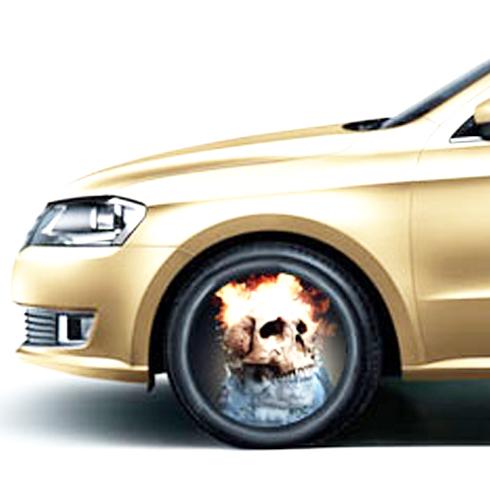 车驰炫百变光影轮——骷髅图案