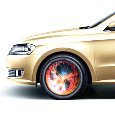 汽车车轮闪光装饰