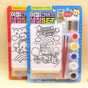 宝宝涂鸦填色书简笔画颜料水彩画-手绘涂色纸屋配画板颜色笔游戏房