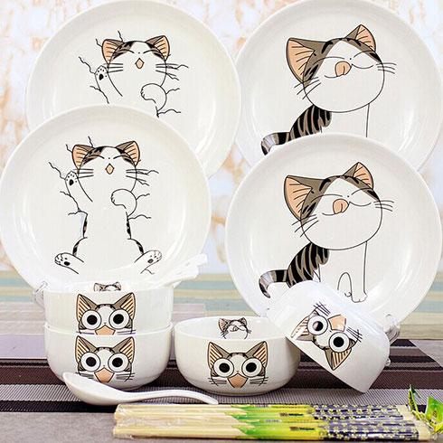新潮风暴潮品-起司猫餐具