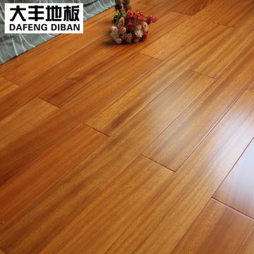 大丰地板 纯实木地板纽墩豆(非洲柚木)木地板