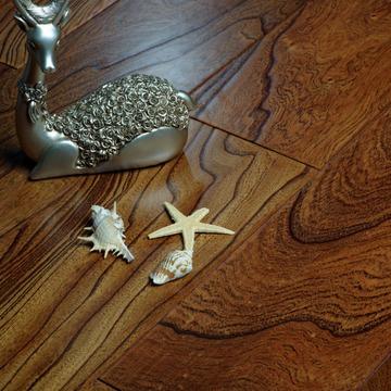 飞思卡尔 榆木多层实木地板 环保抗变形耐磨 别墅可定制-飞思卡尔地板