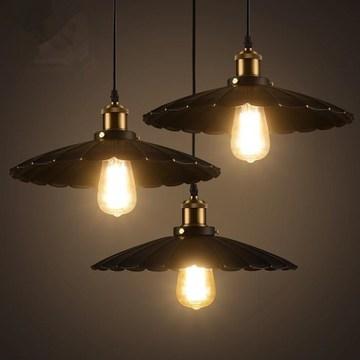 北欧复古工业风古铜灯头吊灯餐厅吧台酒吧咖啡厅玄关灯具仓库橱窗